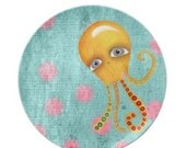 Plate - Kitchen Home Decor Plate - Octopus