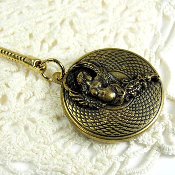 Victorian Brass Key Fob