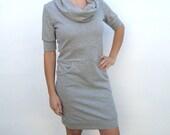 MASSIVE CLEARANCE SALE Pocket Cowl Jumper Dress Light Grey Size Large/Ready To Ship