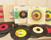 Vintage Records 45s 1960s Beatles Byrds Righteous Brothers 13 Pc