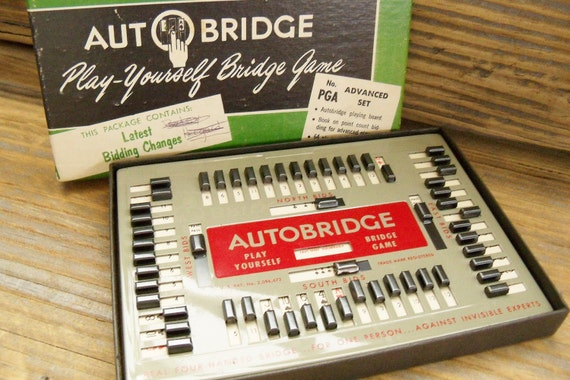 Mid Century AutoBridge Game Advanced One-Player Actual Play No. PGA 1957
