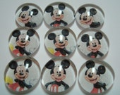 Glass Marble Magnets - Mickey Mouse