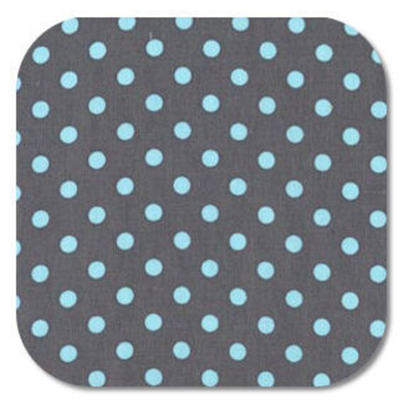 END OF BOLT Michael Miller, Dumb Dot in Gray fabric, 30 inches CX2490