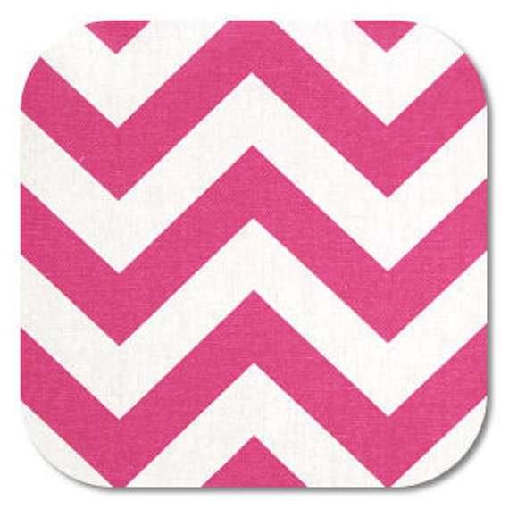 Premier Prints ZigZag Chevron in Candy Pink/White Home Decor fabric, 1 yard