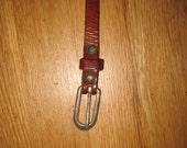 Vintage skinny leather belt