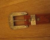 Vintage jeweled leather belt