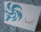 Sweet Greeting Cards, Pack of 4
