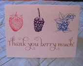 Thank You Berry Much Greeting Cards, Pack of 4