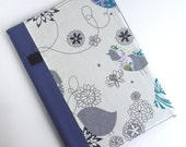 Fabric Journal Cover Notebook A5 Purple Bird By BonTons on Etsy