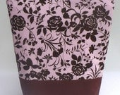 SALE Insulated Lunch Bag Tote Zip Chocolate Flowers Lunch Bag Washable BonTons on Etsy
