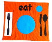 Set the Table Placemat Montessori Fun Educational Eat Place Mat by BonTonsGifts on Etsy