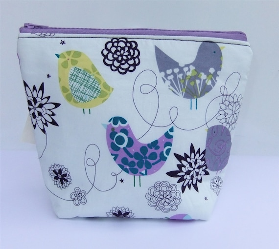 Insulated Little Lunch Bag - Zip Eco Friendly Purple Bird by BonTons on Etsy
