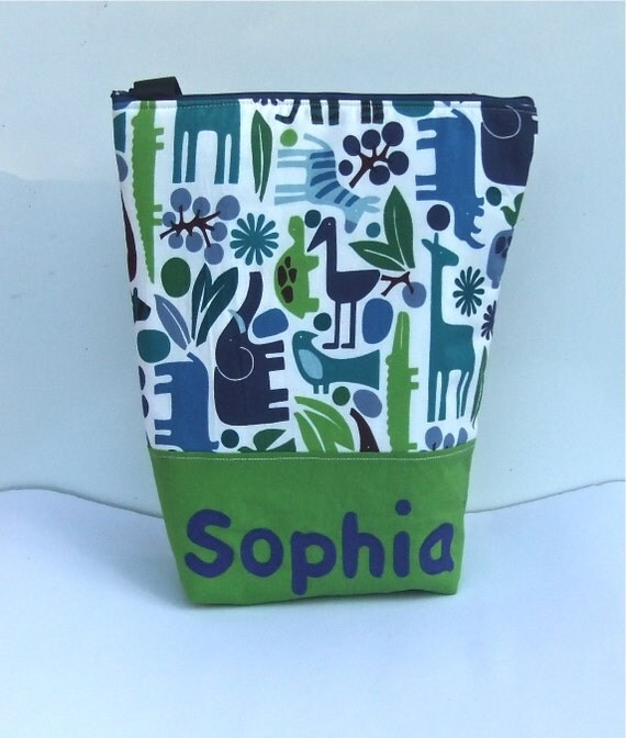 Insulated Lunch Bag Tote Custom Personalised by BonTons on Etsy