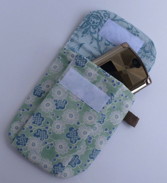 Phone Pouch ipod pouch Camera Pouch Gadget Pouch Flower Handmade by BonTons on Etsy