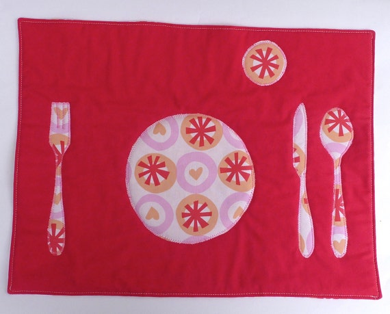 Set the Table Placemat Montessori Fun Educational Sweet Love Place Mat by BonTonsGifts on Etsy