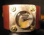 yellow bird queen resin hand soldered cuff bracelet womens jewelry