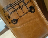 iPod iPhone sleeve leather hand-printed