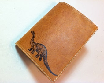 billfold wallet with card slots leather custom for you dinosaur