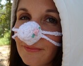 Pink  Rosebud Nose Warmer, Girly,Tween, Teen, Girl, Woman, Sister, Mom, Crocheted,  Outdoor Nose Cozy, Best Gift