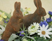 Primitive Blackened Beeswax Full-Bodied Rabbit Pair-RESERVED