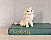 SALE Petite White Kitten ...vintage norcrest figurine