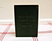 RESERVED for pacmedia 1907 Cricket Club ...vintage bruntsfield scorecard