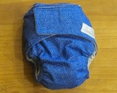 Small Blue Sprout Pocket Diaper -CLEARANCE-