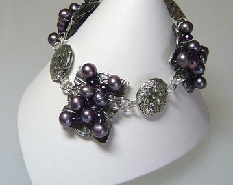 Amethyst X's and O's (as seen in Bead Trends Magazine)