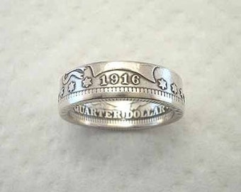 Sizes 4.5 - 8. Coin Ring. Barber Silver Quarter. Place Your Custom Order Here.