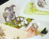 22 Dog Postcards with Envelopes - Package deal with BONUS Magnet - FREE SHIPPING SALE