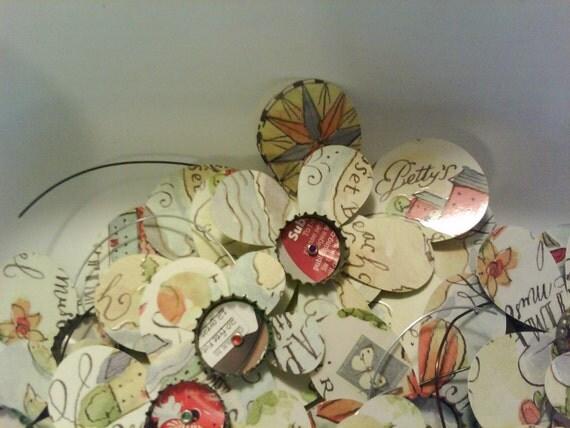Handmade East Coast  Bottlecap Flower Magnets