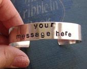 Sale...Personalized Cuff Bracelet