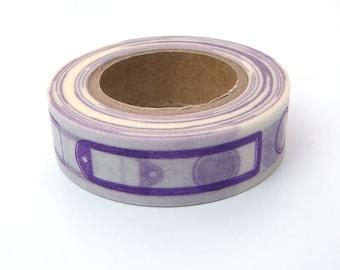 Purple Washi Tape, Japanese Masking, Vitamin Supplement, Mark'sphere, Labels