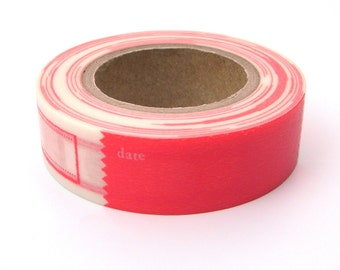 Red Washi Tape, Japanese Masking, Vitamin Supplement, Mark'sphere, Labels