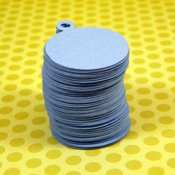 1 Inch Round Hang Tags - 100 Die Cuts in Your Choice of Cardstock Colors