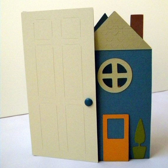 New Home Card for Neighbor, Friend or Family, Shaped Card