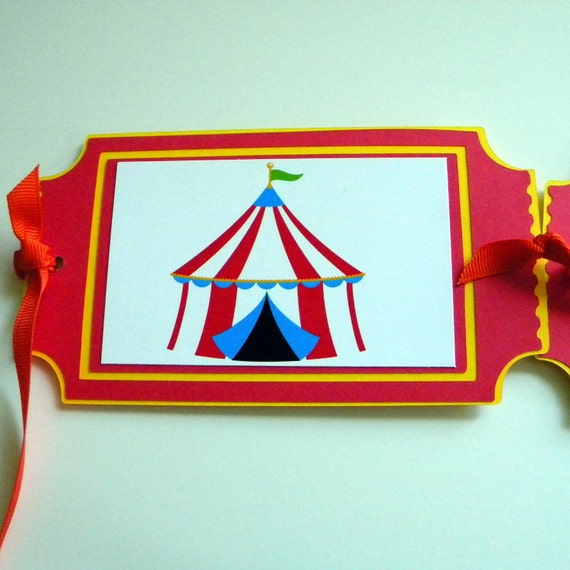 Circus 1st Birthday Banner, Tent, Tickets- Red, Yellow, Green, Blue