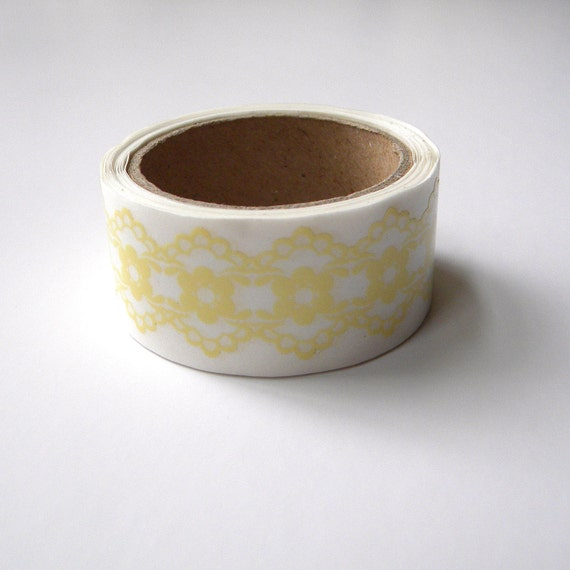 Yellow Lace Tape, Transparent Deco