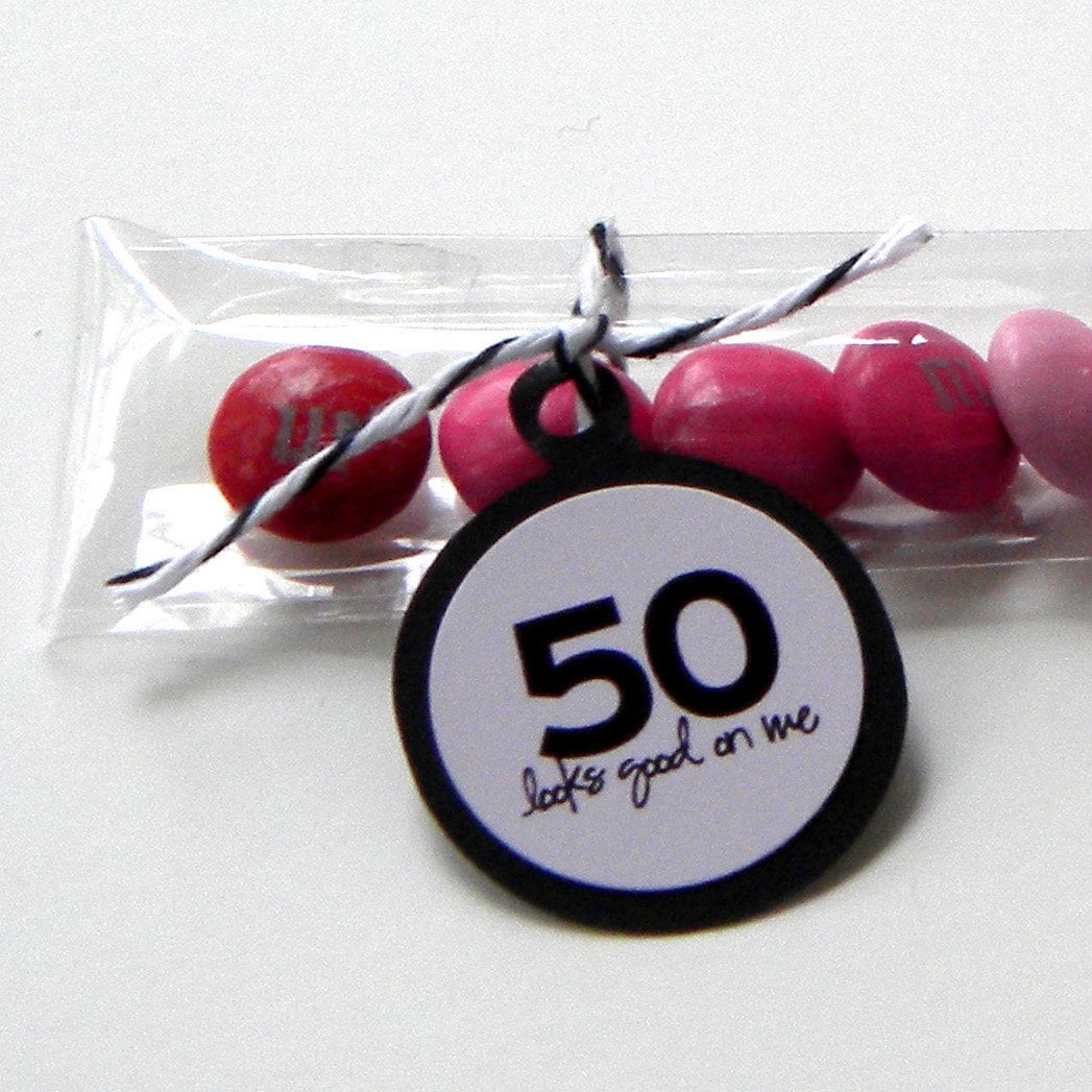 50th Birthday Party Favors Candy Treat Bags 50 Looks Good