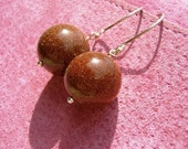 golden sandstone earrings on sterling silver AUSSIE AUTUMN DUST TEAM SALE
