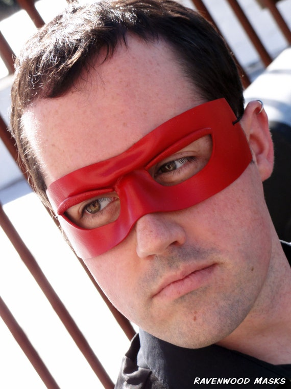 Red leather mask - Zorro the Fox - fast shipping