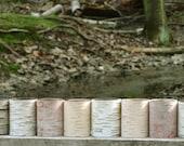 Ten birch bark votives, special offer
