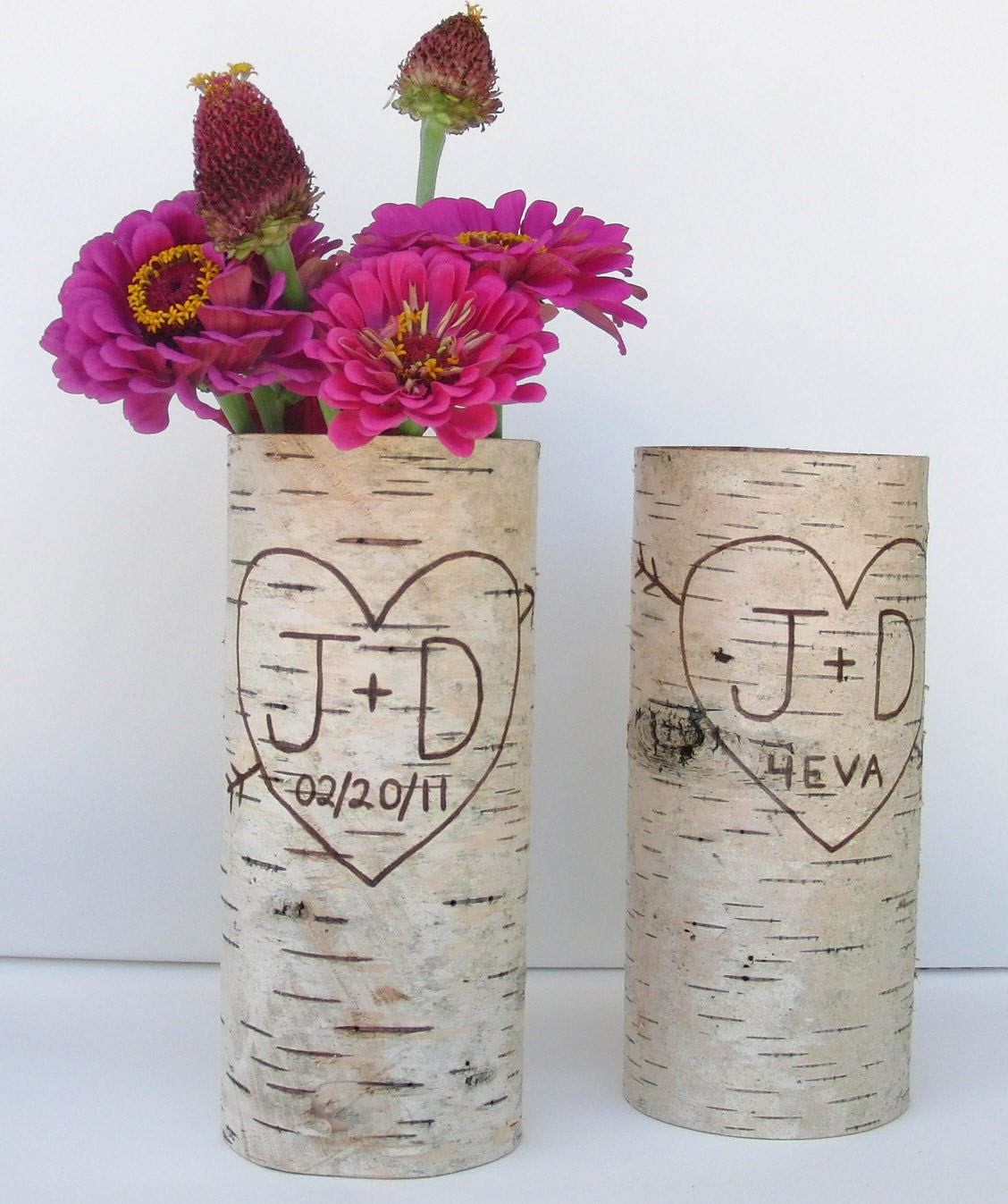 Two Large Birch Bark Vases Natural By Bettula On Etsy