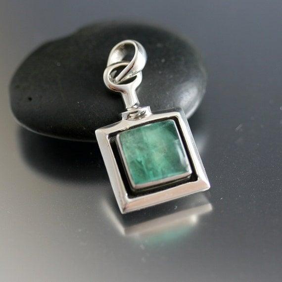 Fluorite Pendant in Sterling Silver