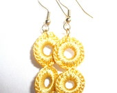 Yellow Ring Earrings