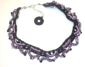 Suede and Crochet Choker from the Suede Collection SD118