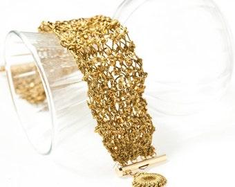 Wire knit bracelet   BR112
