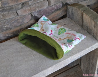 Cozy Sak-Xsmall Pet Bed-Forest Animals