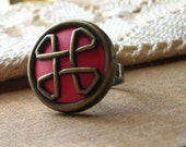 Reserved for Phreshy-------Pierre Cardin Vintage Button Ring