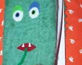 Green Composition Book Monster